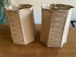 Pair of Lamp Shades 11quot; high x 10quot; wide Octagon shape $99.00