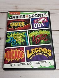 Nickelodeon Games Sports All Star Collection 2014 DVD Double Dare Guts Arcade $24.99