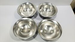 Lot of 4 Double Wall Metal Ware Bowls by William Lipton LTD $144.99
