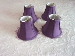 Orchid Fabric Covered Mini Clip on Lamp Shades 4 $9.00