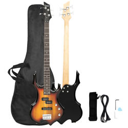 Sunset Professional 4 Strings Electric Bass Guitar with Bag Strap Tools $98.99