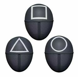 Squid Game Cosplay Mask Square Circle Triangle Squid Game Masks Full Face USA $13.99
