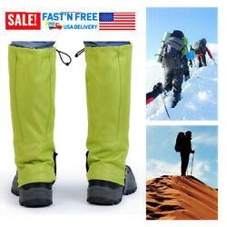 Waterproof Climbing Hiking Boot Cover 1 Pair Trekking Snow Gaiters Shoes Cover $8.50