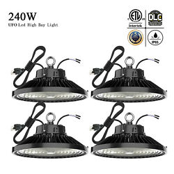 4 Pack 240W UFO Led High Bay Light Warehouse Factory Commercial Light Fixtures