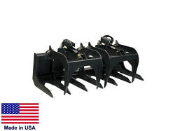 TINE GRAPPLE Commercial - for all Skid Steers - Logs Rocks Demolition - 6 Ft