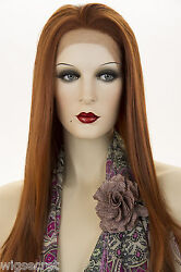 Fox Red Clear Cool Vivid Red Red Long Lace Front Straight Wigs $59.99