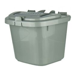 Silver Grey Kitchen Compost Caddy Bin Food Recycling 5 Litre 5L GBP 7.49