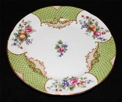 Aynsley China SCALA Green Scales Floral & Fruit Mortlocks 4680 Bread Plate