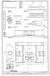 Mid century modern home design Lee House printed architectural plans $28.00