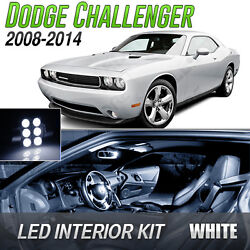 2008 2014 Dodge Challenger White LED Lights Interior Kit
