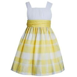 NEW Bonnie Jean EASTER Holiday Plaid Spring Summer Party Girls Yellow Dress $12.00