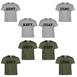 US Army Navy Air Force USAF Marines USMC Military Physical Training PT T Shirt $12.90