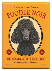 Retro Dogs Refrigerator Magnets: POODLE WINERY Vintage Advertising Art $8.49