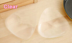 Triangle Pads Silicone Swimsuit Push Up Bra Insert Breast Cleavage Enhancer CT $8.15