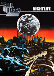 Thin Lizzy NIGHTLIFE POSTER print By Jim Fitzpatrick.