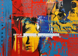 Daniel Dens Painting Original Work (Modern Art Silk-Screen Rauschenberg)
