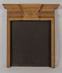 Exceptional Antique Georgian Carved Wood Pine Mantle Circa 1800