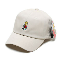 Licensed Unisex Mens Simpsons Bart Skateboard Baseball Cap Trucker Hats Beige
