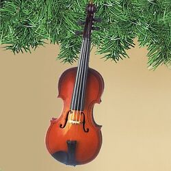 Realistic Violin Christmas Ornament 5 Inches Tall by Broadway Gifts NIB