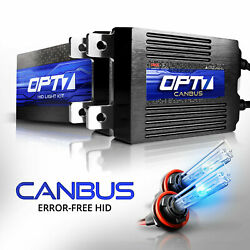 OPT7 AC 55W CanBUS H11 HID Kit wRelay Harness Bundle All Xenon Light Colors