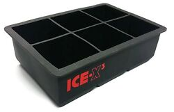 CUBED ICE Maker Large Cube Square Tray Molds Whiskey Ball Cocktails Silicone Big $11.99