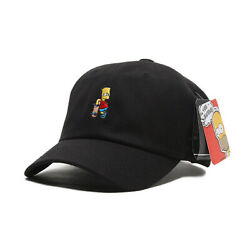 Licensed Unisex Mens Simpsons Bart Skateboard Baseball Cap Trucker Hats Black