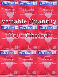 You Pick 1 to 10 Packs Red Star Montrachet  Premier Classique Dry Wine Yeast