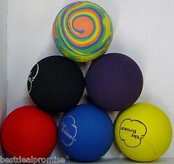 GENUINE SKY BOUNCE HAND BALL RACKET BALL RACQUETBALL LOT OF 6 Assorted USA $13.95
