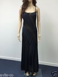 Small Frederick#x27;s of Hollywood Lingerie black sheer ILLUSION NIGHT GOWN NEW WT $5.99