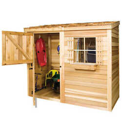 Cedarshed Bayside 12X4 Lean-To Shed [B124]