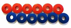 POLY GLAD HAND SEALS 12 PC RED amp; BLUE KIT TRUCK TRAILER $11.88
