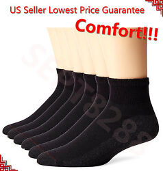 New 12 Pairs Ankle Quarter Crew Mens Socks Cotton Low Cut 9 11 10 13 LOT BLACK $7.99