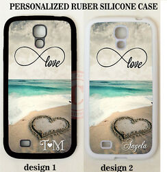 INFINITY LOVE BEACH HEART MONOGRAM PHONE Case For Samsung GALAXY S9 S8 NOTE 9 8