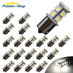 20x Pure White 1156 1141 13-SMD RV Camper Trailer LED Interior Light Bulbs 12V