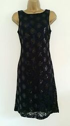 NEW BHS 8 16 Purple Black Lace Sequin Embellished Dress Party GBP 7.50