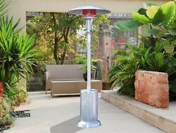 Sunglo A270 SS Fine Portable Propane Gas Patio Heater Stainless Steel