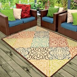 RUGS AREA RUGS INDOOR OUTDOOR RUGS OUTDOOR CARPET COLORFUL PATTERN LARGE RUGS ~~