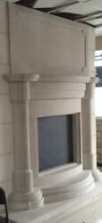 Limestone Fireplace Surround - Mantel - Hearth