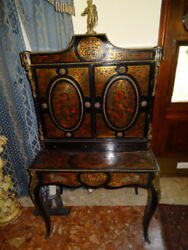 Museum Fine Antique French Louis XVI Boulle Display Cabinet With Bronze Apollo