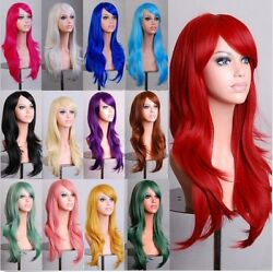 70cm Long Curly Fashion Cosplay Costume Party Hair Anime Wigs Full Hair Wavy Wig