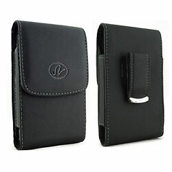 Leather Holster Cover Pouch fits w silicone case on  ZTE Phones $6.95