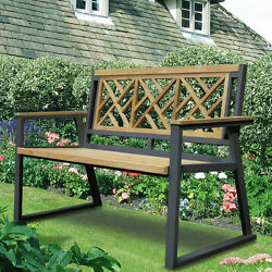 ASTA Home Furnishing California Room Chippendale Teak and Iron Garden Bench
