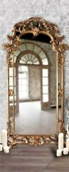 NEW FRENCH VICTORIAN ORNATE Scroll ARCH Oversize 85quot; Bronze SILVER Floor Mirror $894.95