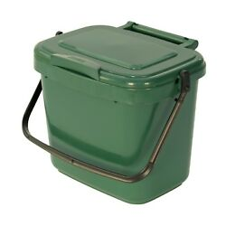Kitchen Compost Caddy Green for Food Waste Recycling 5 Litre 5L Bin GBP 7.49