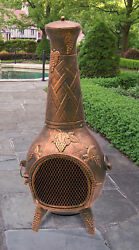 Oakland Living Grape Cast Metal Chiminea