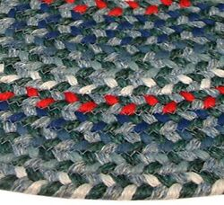 Pioneer Valley II Carribean Blue Multi Elongated Octagon Outdoor Rug
