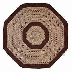 Pioneer Valley II Buckskin with Burgundy Solids Octagon Outdoor Rug
