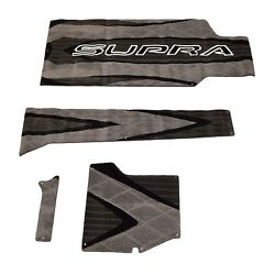 Skiers Choice Supra SG 4 Piece Gray  Black Boat Carpet  Carpeting Set 115315