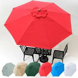 8#x27; 9#x27; 10#x27; 13#x27; Umbrella Replacement Canopy 8 Rib Outdoor Patio Top Cover Only Opt $23.90