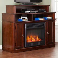 Lincoln TV Stand with Electric Fireplace for Screens up to 46